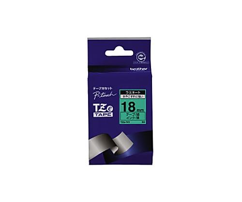 ピータッチ用TZeテープカセット 緑に黒文字18ミリ幅 TZE-741