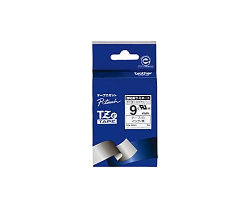 ピータッチ用TZeテープカセット 強粘着白に黒文字9ミリ幅 TZE-S221