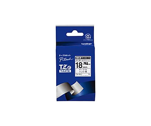 ピータッチ用TZeテープカセット 強粘着白に黒文字18ミリ幅 TZE-S241