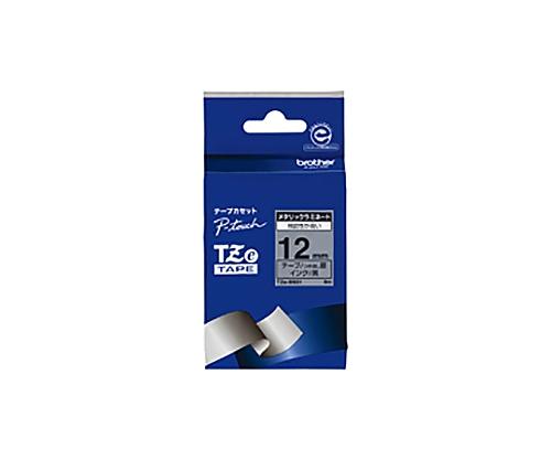 ピータッチ用TZeテープカセット ツヤ消し銀に黒文字12ミリ幅 TZE-M931
