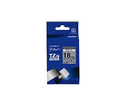 ピータッチ用TZeテープカセット ツヤ消し銀に黒文字18ミリ幅 TZE-M941