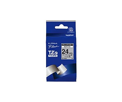 ピータッチ用TZeテープカセット 銀(ツヤ消し)に黒文字24ミリ幅 TZE-M951