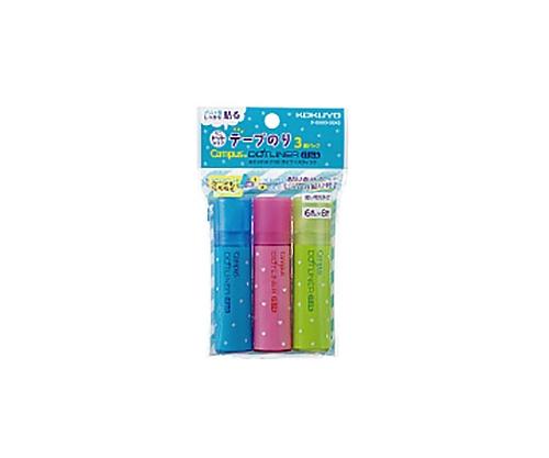 キャンパス ドットライナー・スティック(テープのり・使いきりタイプ) 3個パック(青・ピンク・グリーン) 6mm×8m タ-D900-06X3