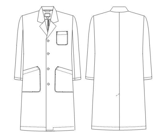 男子シングル診察衣 ホワイト M TAP65