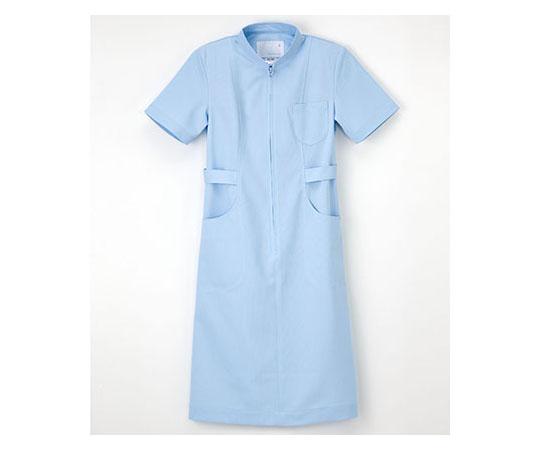 [取扱停止]看護衣半袖 サックス LL HS967