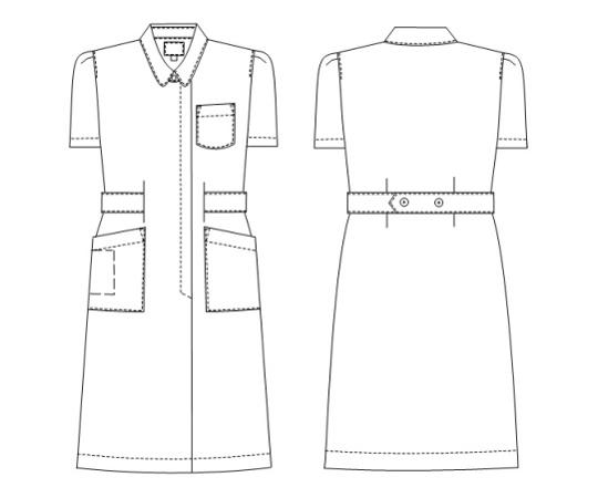 [取扱停止]看護衣半袖 KES1177 ホワイト EL