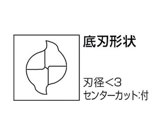 ミラクルエンドミル VC2SS φ0.4×刃長:0.8mm VC2SSD0040