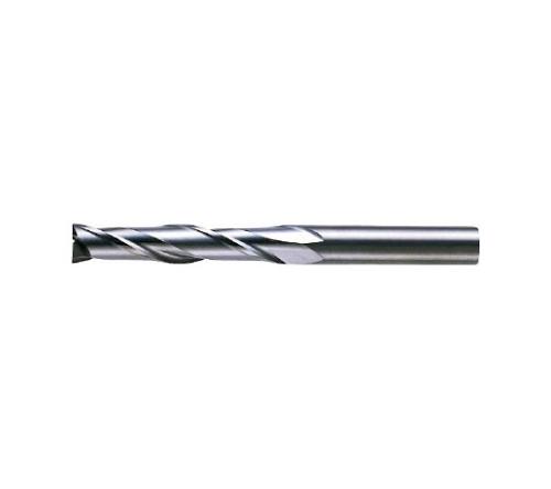 超硬エンドミル(ロングタイプ) 2枚刃 ノンコート