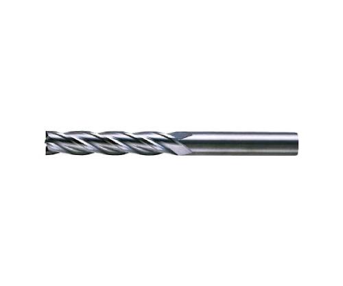 4枚刃超硬センタカットエンドミル(ロング刃長) ノンコート