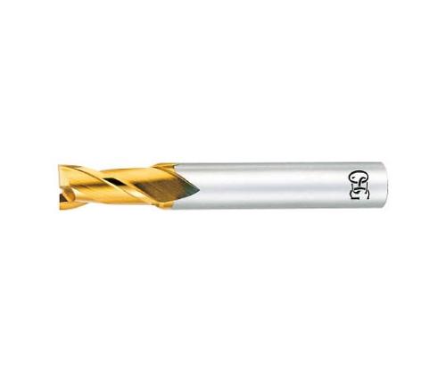 ハイスエンドミル TIN 2刃ショート φ2.0×刃長:4×全長:50
