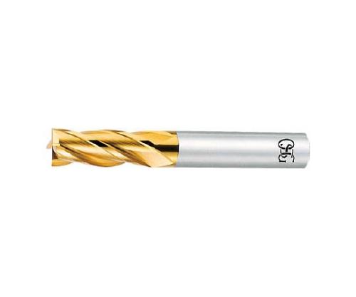 OSG TiNコートエンドミル(4枚刃・刃長ショートタイプ)
