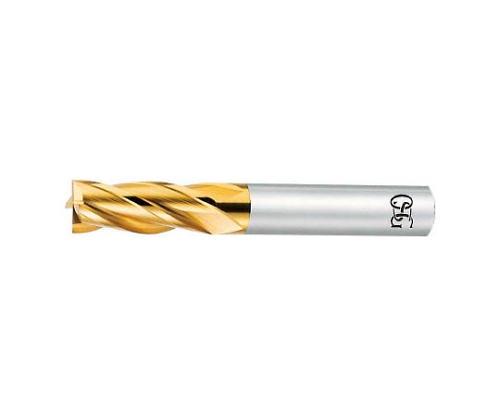 ハイスエンドミル TIN 4枚刃 φ10.0×刃長:25×全長:70