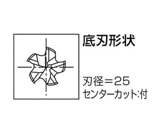 ハイスエンドミル 8455675 VLS-XPM-RESF-25X4F