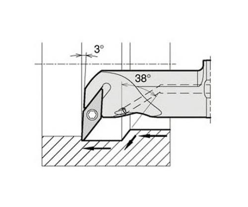 京セラ 内径加工用ホルダ 型番:A12MSVUCR0816AE