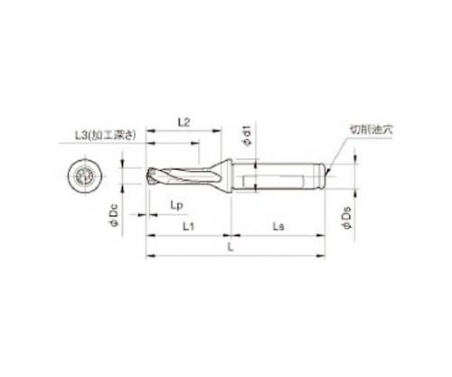 京セラ ドリル用ホルダ 型番:SF16DRC120M3
