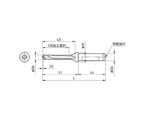 京セラ ドリル用ホルダ 型番:SF16DRC120M5
