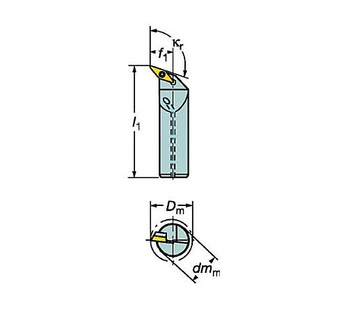サンドビック コロターン107 ポジチップ用ボーリングバイト 型番:A32TSVQBR16