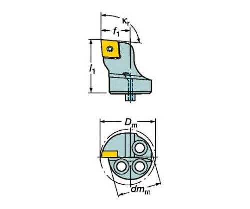 サンドビック コロターンSL コロターン107用カッティングヘッド 型番:570SCLCL4012