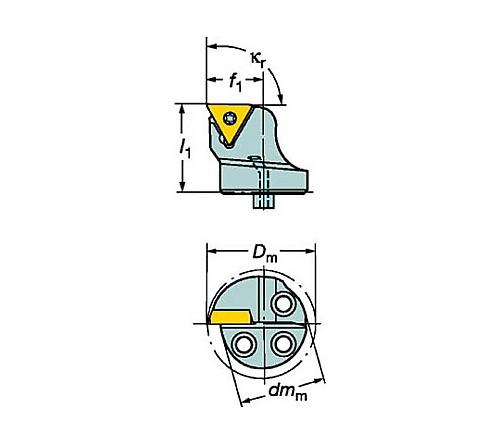 サンドビック コロターンSL コロターン107用カッティングヘッド 型番:570STFCR2011B1