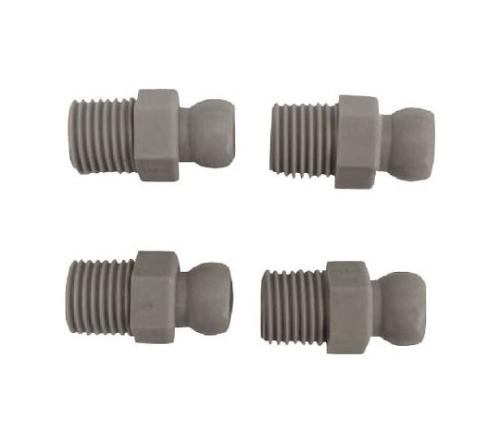 クーラントシステム1/4 コネクター PT1/4 4個入 灰色