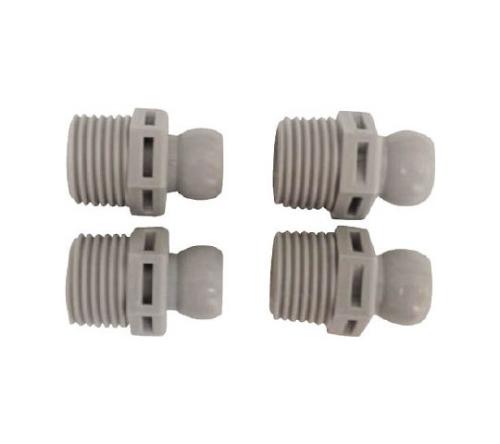 クーラントシステム3/8 コネクター PT1/2 4個入 灰色