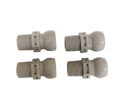 クーラントシステム1/2 コネクター PT3/8 4個入 灰色