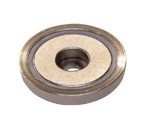 ネオジ磁石プレートキャッチ(段穴タイプ)
