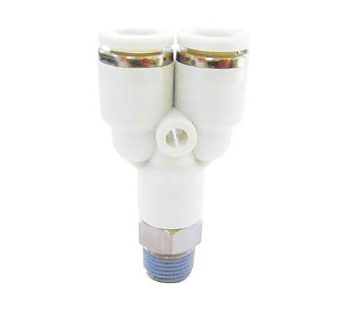 メイルブランチ ワイ 適合チューブ外径D:4 接続口径:R1/4.0 空気用   WPWT0402
