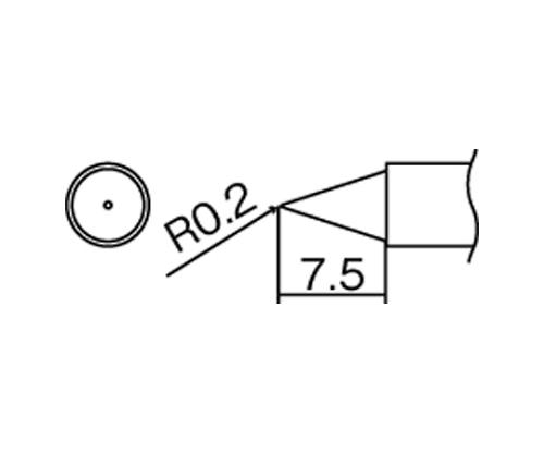 FM2027・FM2028用交換コテ先(T12シリーズ)