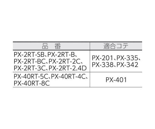 替こて先 B型(標準) (1本=1PK) PX-2RT-B