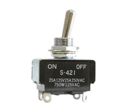 小型トグルスイッチ(Sシリーズ 基本形 モーター・ランプ負荷用)