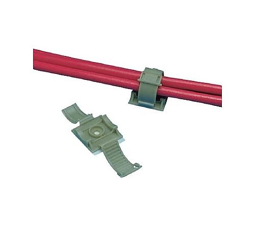 固定具 クリンチャー 粘着テープ付き テレホングレー ARC68AC14