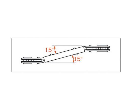 ベント板ラチェットレンチ 8X10mm PRB-8X10