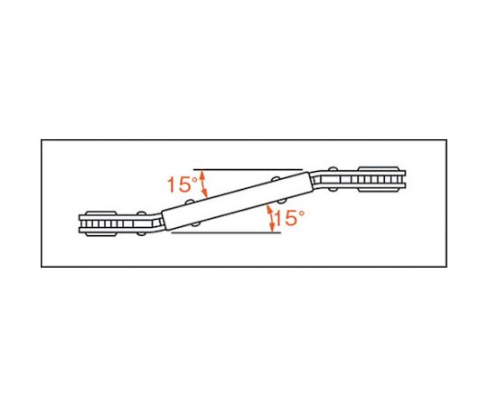 ベント板ラチェットレンチ 17X19mm PRB-17X19