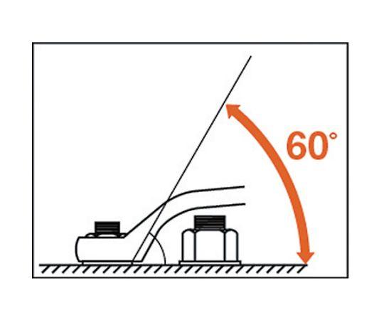 60°片口めがねレンチ(六角対辺:26)しの付 KP-26