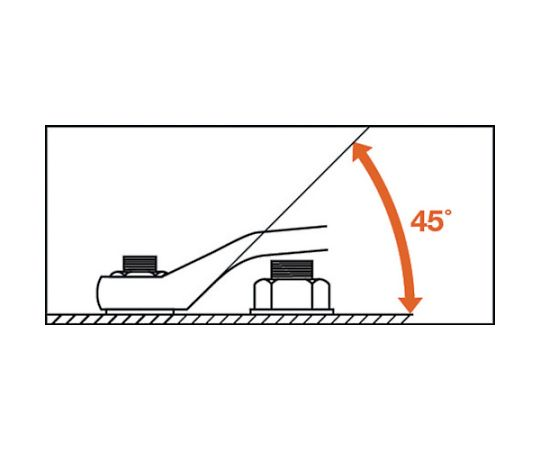 45°両口メガネレンチ(JIS) 対辺寸法8×10mm DL-810