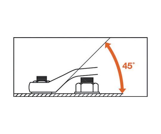 45°両口メガネレンチ(JIS) 対辺寸法17×21mm DL-1721