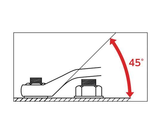 45度両口めがねレンチセット(6丁組) S4506N