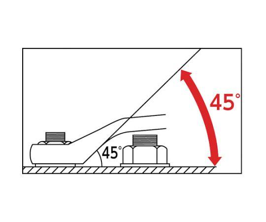 ロングめがねレンチ(45°) 21X23mm M45-2123