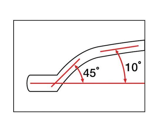 ロングメカニックめがねレンチ(45°X10°) 5.5X7mm M44-5.507