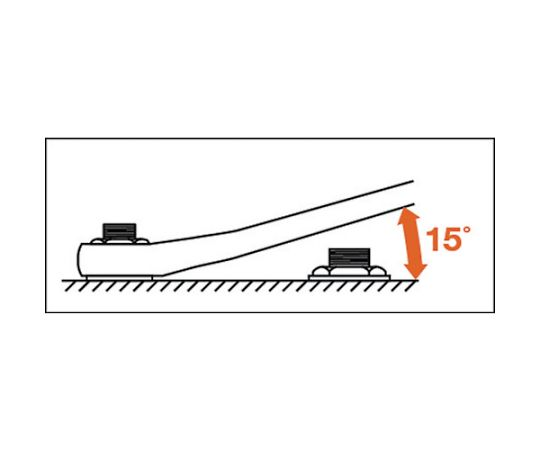 ロングめがねレンチ(15°) 12X14mm M15-1214