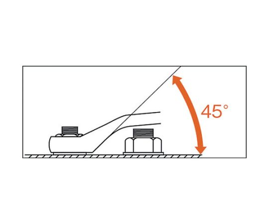 ショートめがねレンチ(45°) M46-5.507