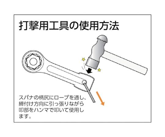 打撃めがねレンチ85mm DR0085