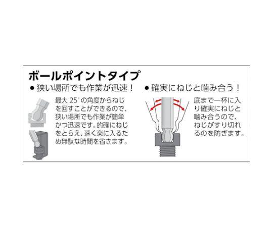 ロングボールポイント六角棒 1.5mm GXBL-15