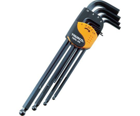 ボールポイント六角棒レンチセット ロングタイプ 9本組 1.5-10mm TBRL9S