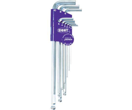 六角棒スパナ ボルトキャッチ テーパーヘッド エキストラロング セット 1.5-10mm BCTS9