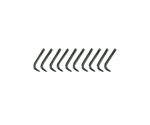 スナップリングプライヤ先端クローセット 曲型Ф1.5[10本組]