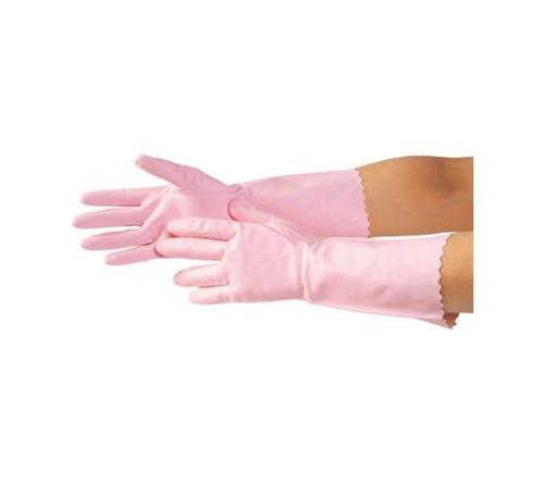 清掃用手袋 M ピンク 7627