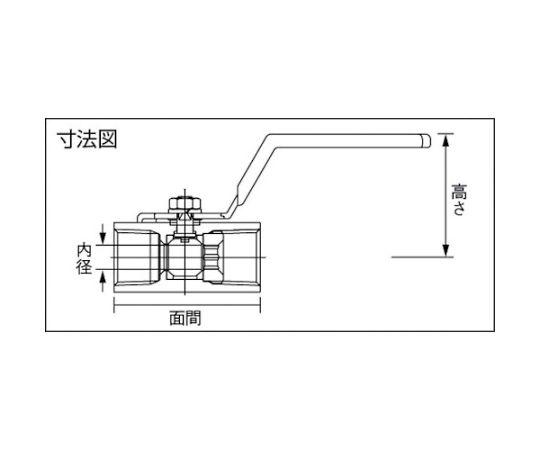 黄銅製1.96MPaミニボール弁 呼び径(A):40×呼び径(B):1・1/2 DBV12HR