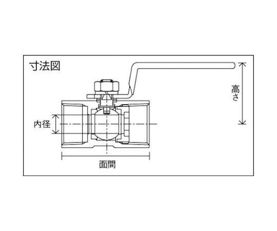 ステンレス製3.92MPaレデュースボアタイプボール弁 呼び径(A):10×呼び径(B):3/8 UBVN14CR